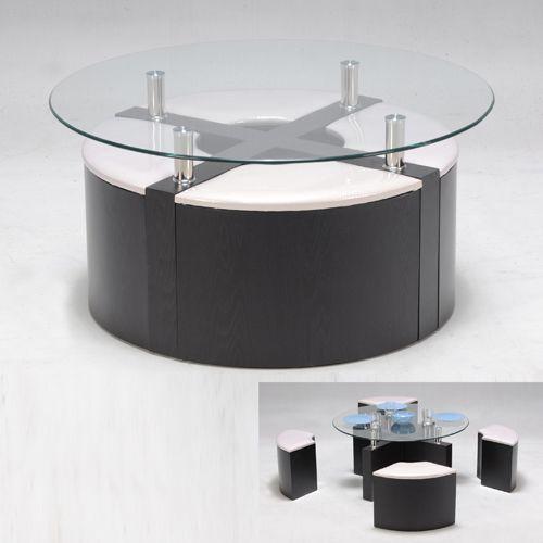 Table basse pouf intégré pas cher