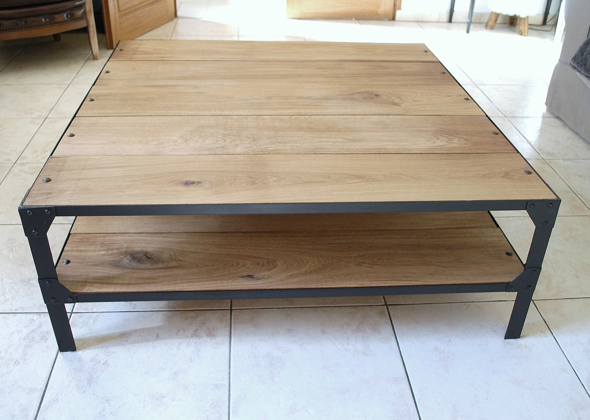 Table Basse Industrielle Pas Cher Mobilier Design D Coration D  # Table Basse Et Meuble Tv