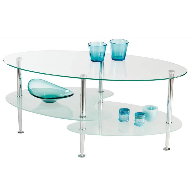Table basse joko en verre