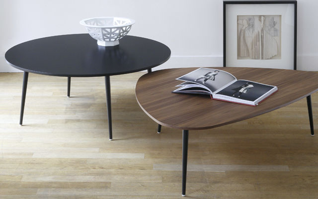 Table basse gigogne triangulaire mobilier design - Table basse ronde conforama ...