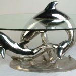 Table basse en verre dauphin