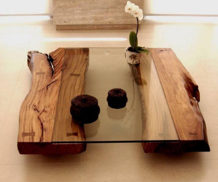 Table basse en verre de createur