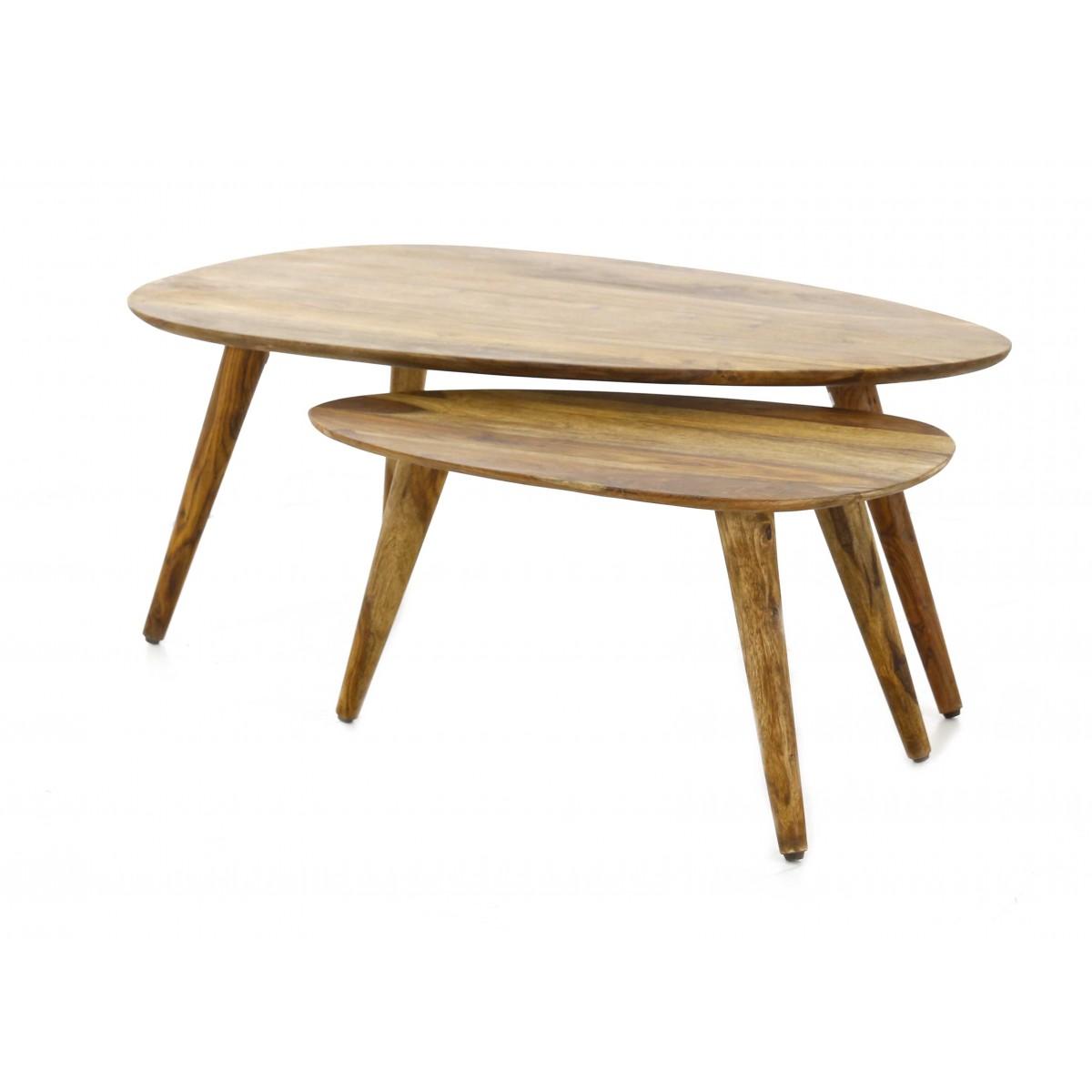 table basse gigogne vintage bois mobilier design. Black Bedroom Furniture Sets. Home Design Ideas