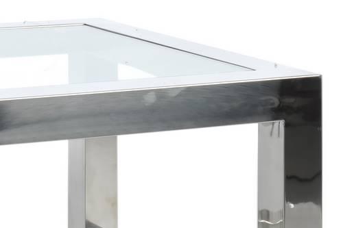 Table basse en verre bout de canapé