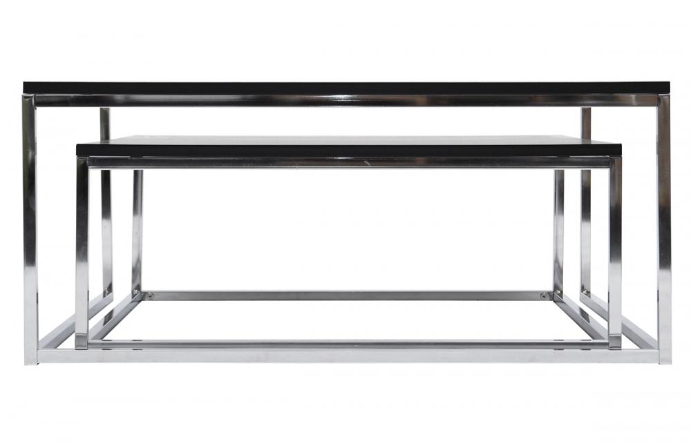 table basse gigogne blanc et bois mobilier design. Black Bedroom Furniture Sets. Home Design Ideas