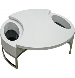 Table basse ronde pivotant