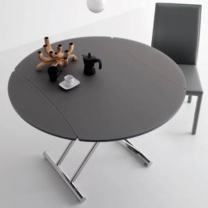 table basse ronde reglable en hauteur mobilier design. Black Bedroom Furniture Sets. Home Design Ideas