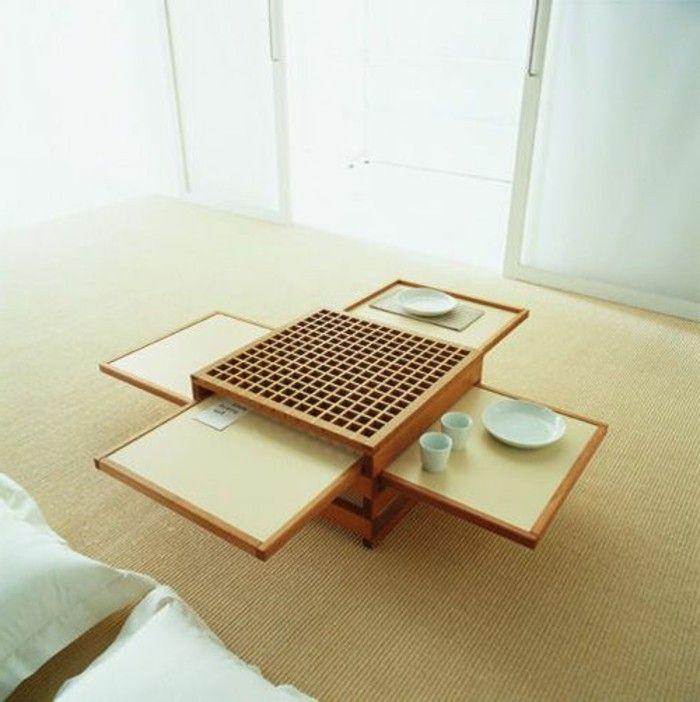 Table basse alinéa wengé