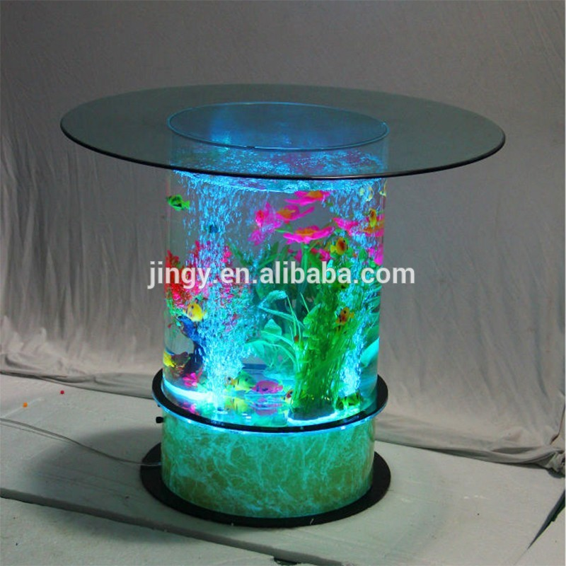 Table Basse Aquarium Ronde Mobilier Design D Coration D