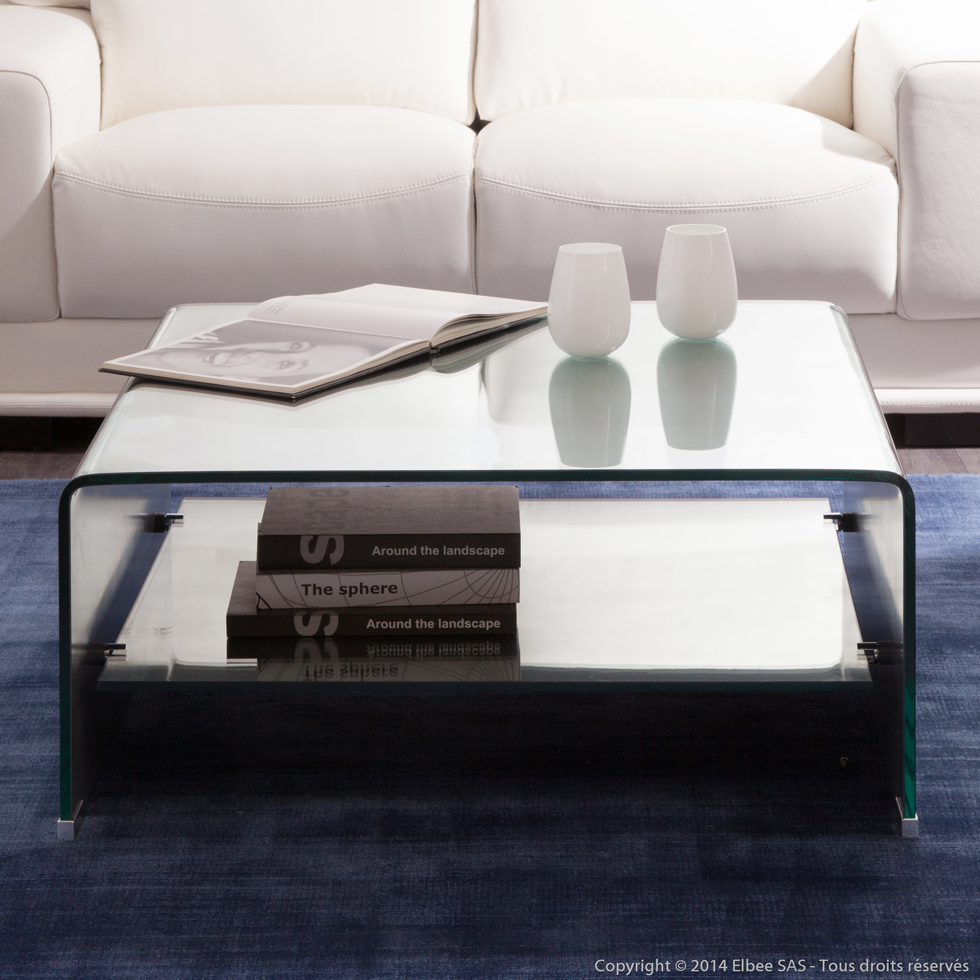 Table basse en verre delamaison