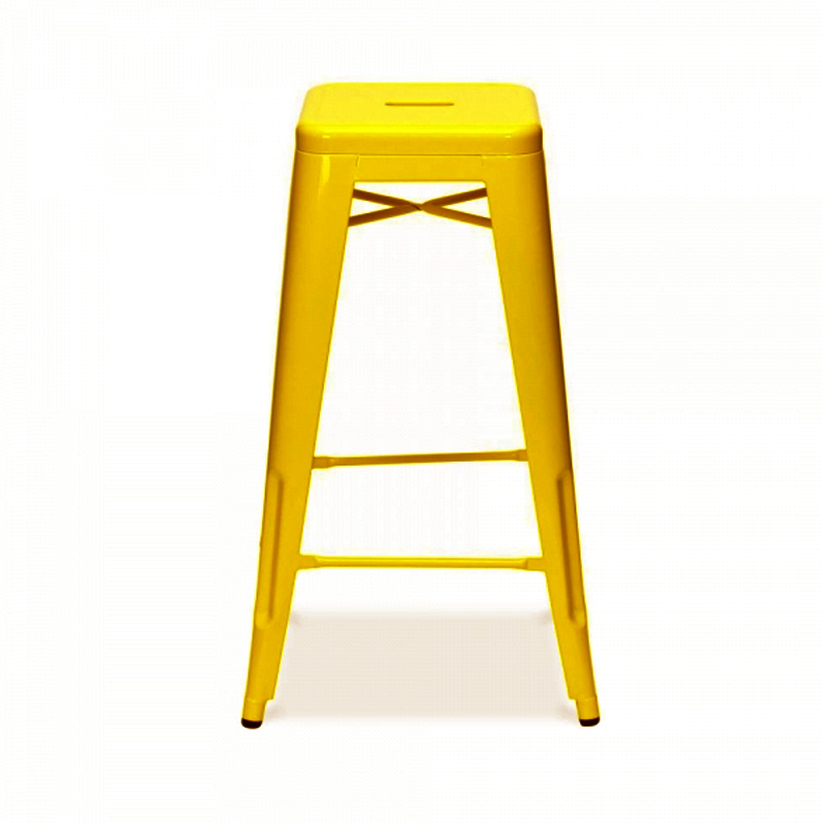 Tabouret de bar jaune mobilier design d coration d - Tabouret de cuisine design jaune ...