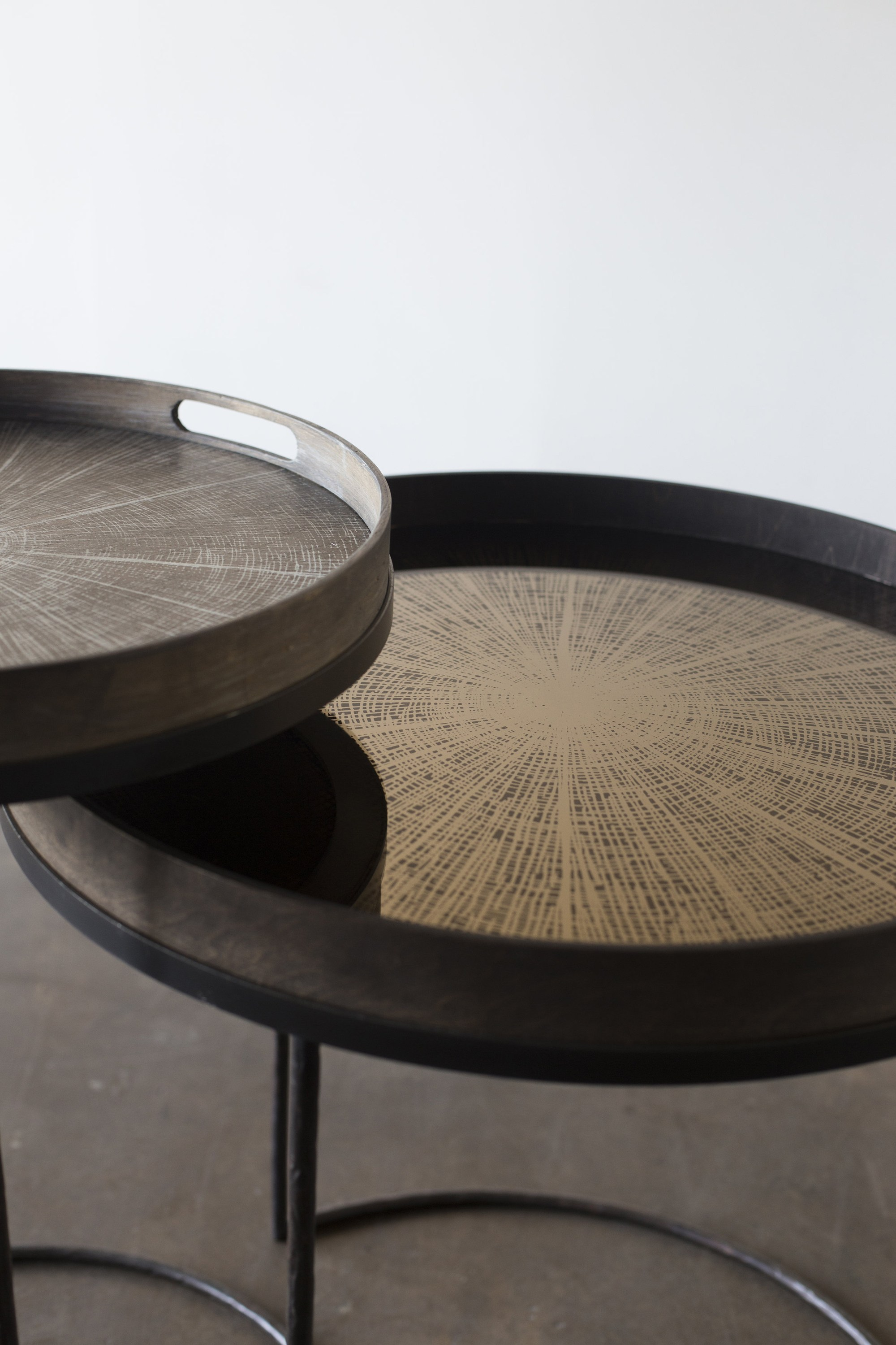 Table basse ronde plateau