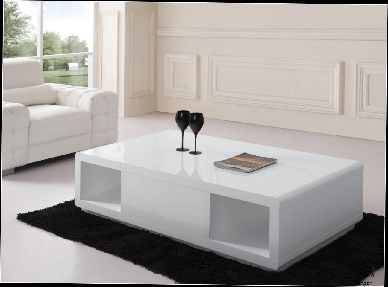 Wundersch nen table basse vitrine ikea id es de - Table blanc laque ikea ...