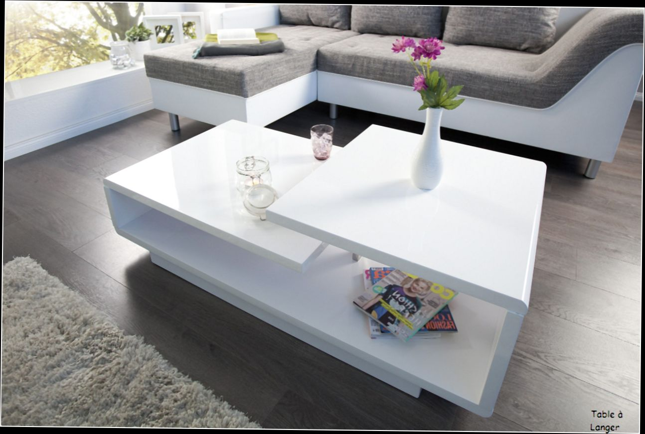 table basse alinea blanc laqu mobilier design. Black Bedroom Furniture Sets. Home Design Ideas