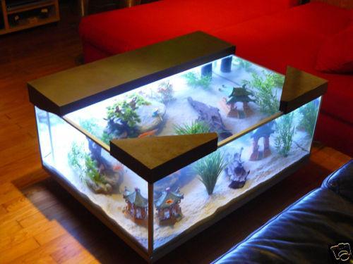 Vente table basse aquarium