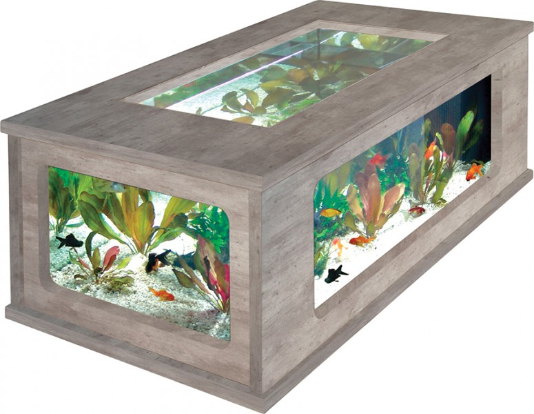 Table basse aquarium solde