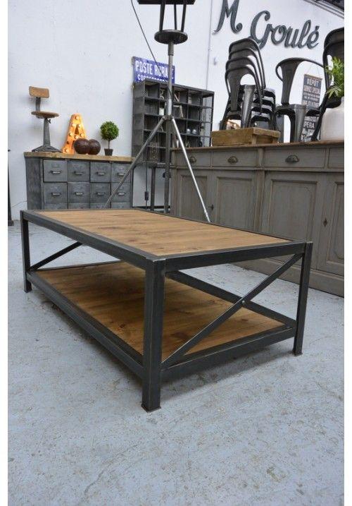 table basse industrielle pinterest mobilier design d coration d 39 int rieur. Black Bedroom Furniture Sets. Home Design Ideas