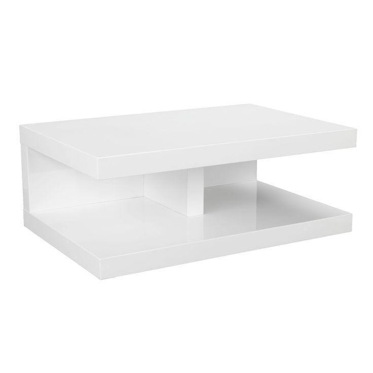 chaussures de séparation 4da99 122dc Table basse alinea laque blanc - Mobilier design, décoration ...