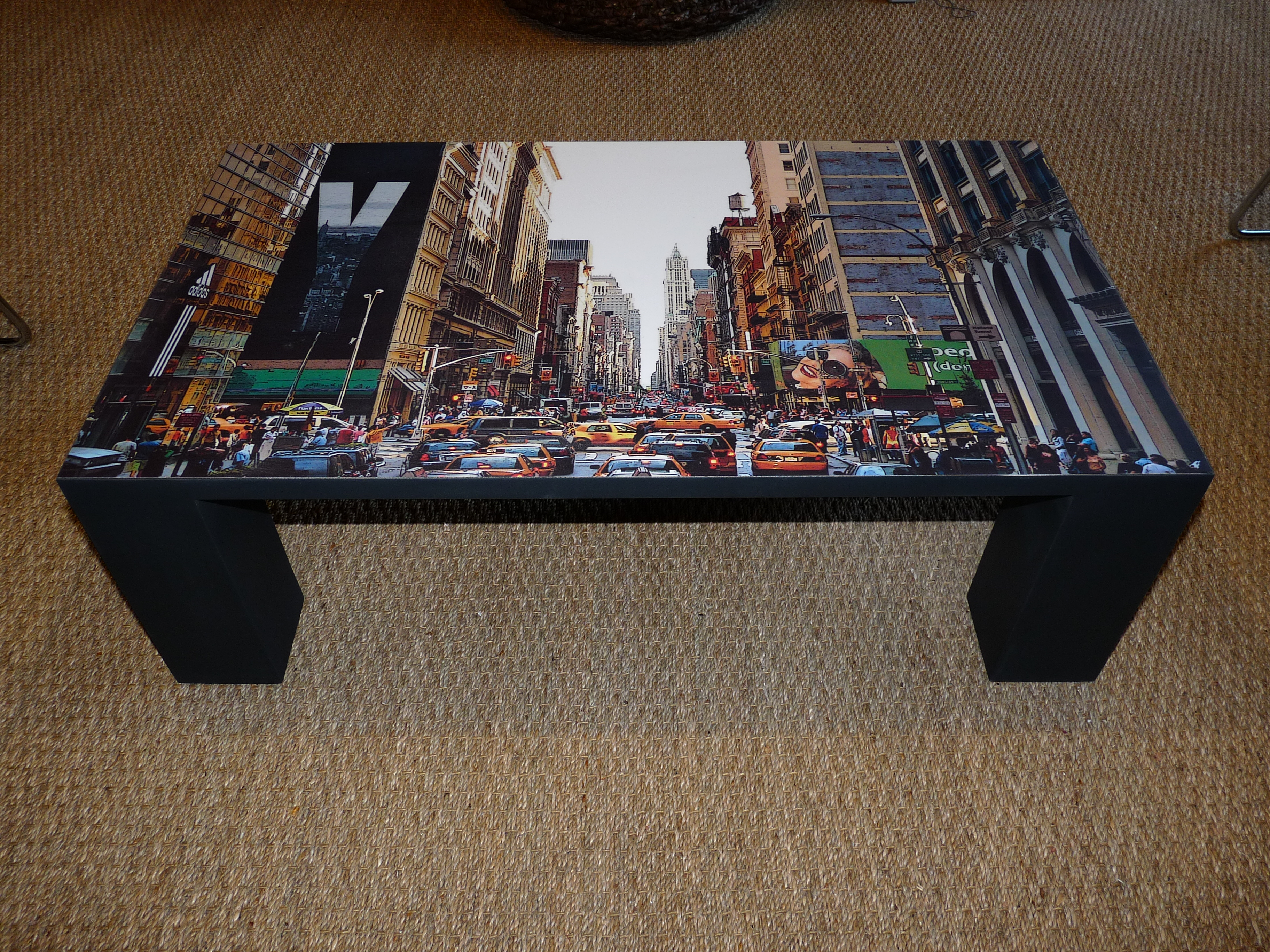 Table basse ronde new york