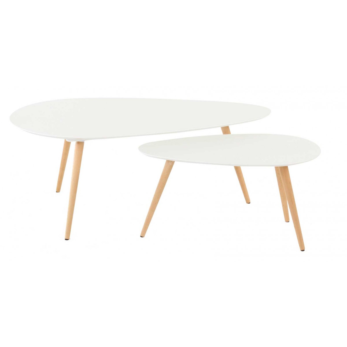 Table basse gigogne ovale mobilier design d coration d - Table basse design ovale ...
