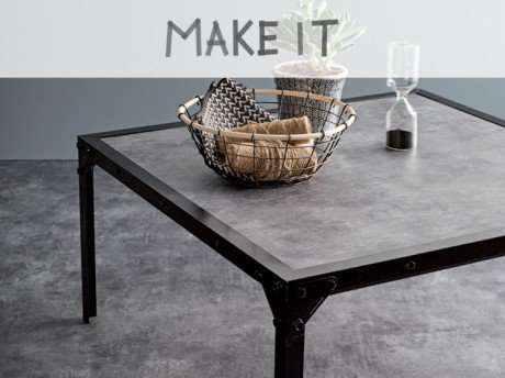 Fabriquer table basse style industriel mobilier design d coration d 39 int rieur - Fabriquer table basse industrielle ...