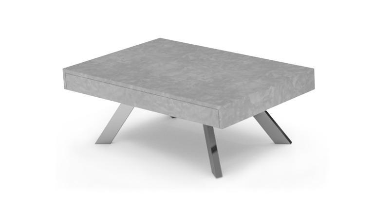 Table basse ronde effet beton
