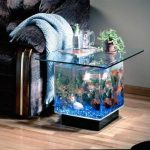 Donne table basse aquarium