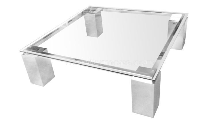 Table basse en verre montreal