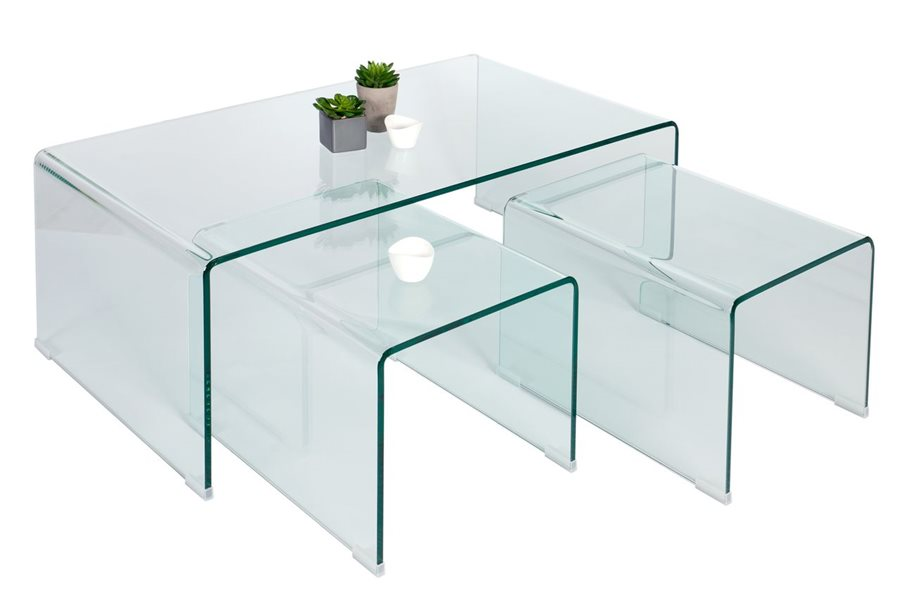 Table basse en verre gigogne