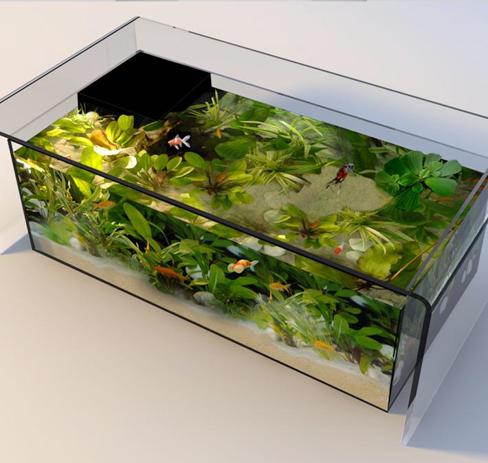 Acheter une table basse aquarium