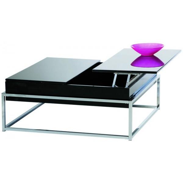 Table qui se leve table basse coffre avec plateau for Bureau qui se leve