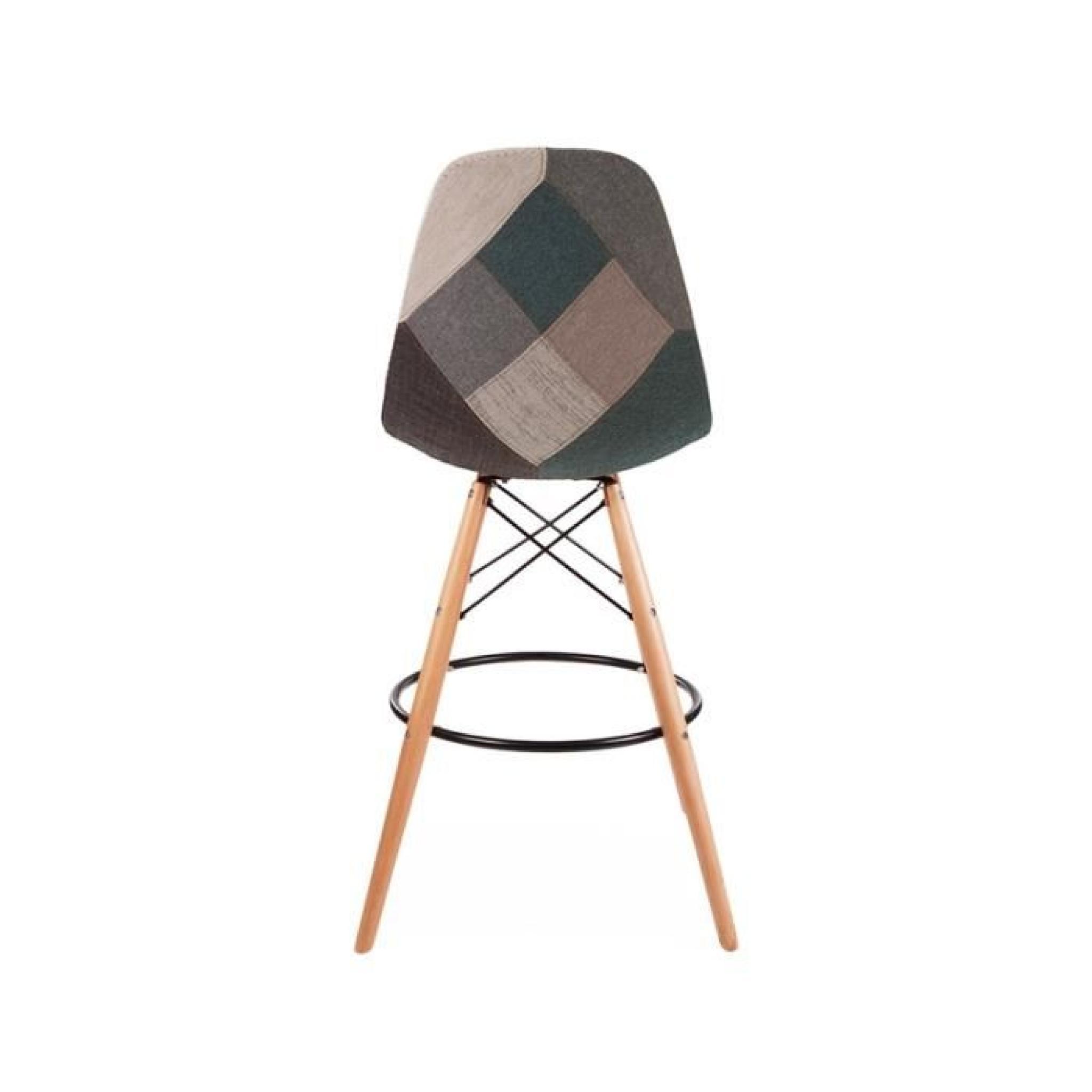 tabouret de bar patchwork mobilier design d coration d. Black Bedroom Furniture Sets. Home Design Ideas