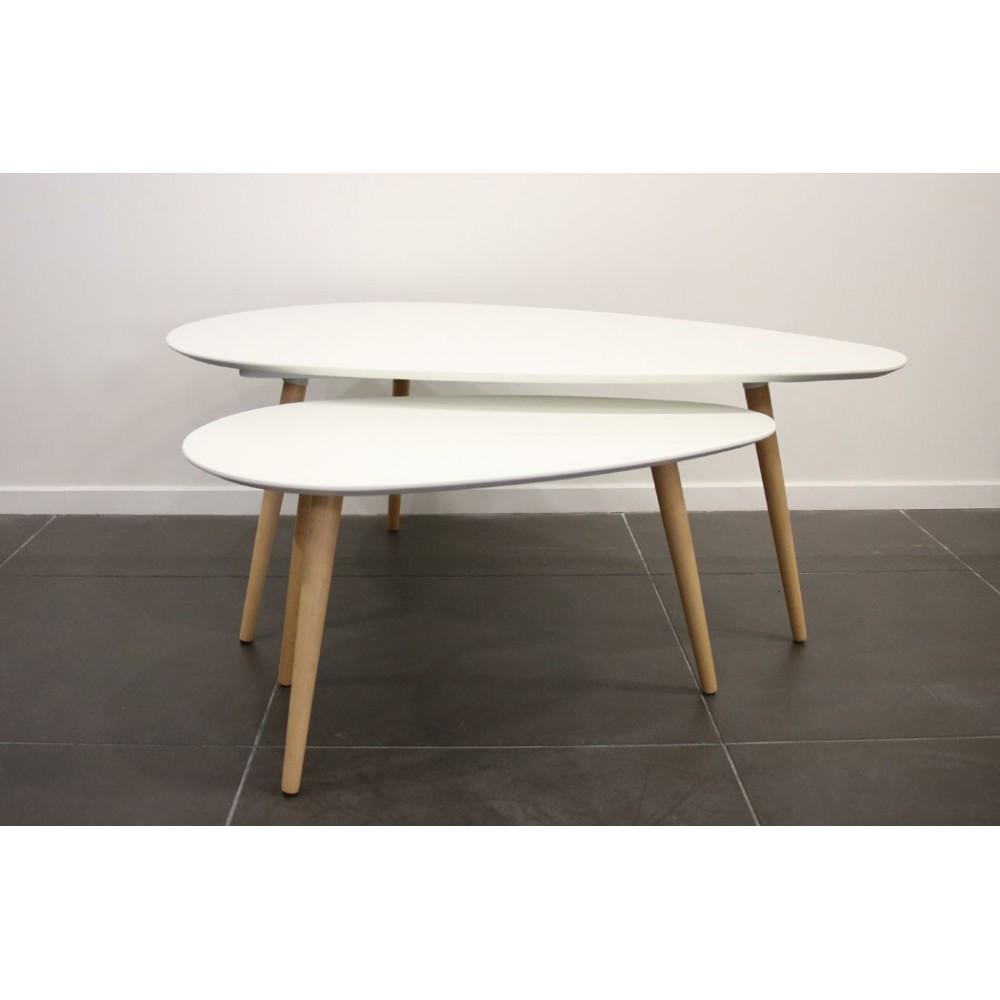 Table basse gigogne suisse mobilier design d coration d - Table basse gigogne blanche ...