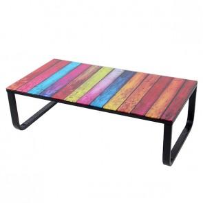 Table basse en verre rainbow mobilier design d coration for Table basse rainbow