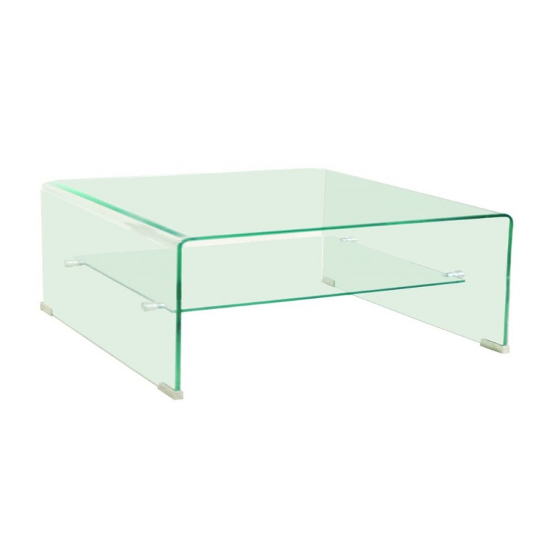 Table basse en verre carr e design mobilier design for Table italienne en verre