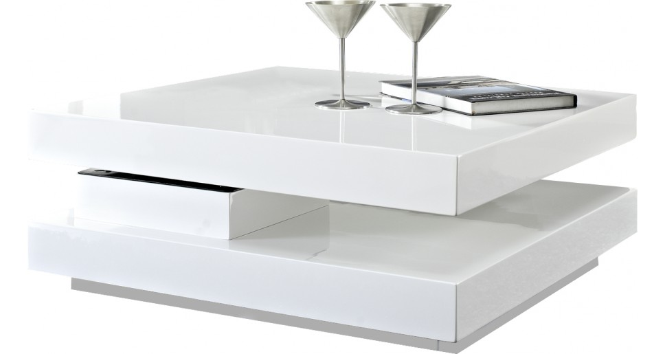 Table basse blanche pas cher cdiscount