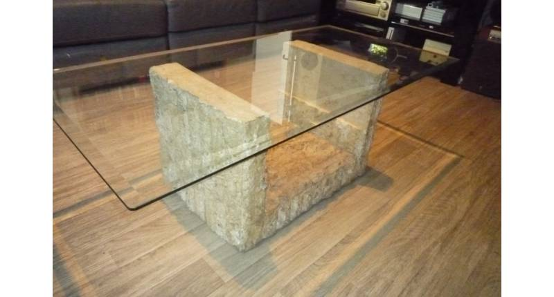 Table basse en verre occasion