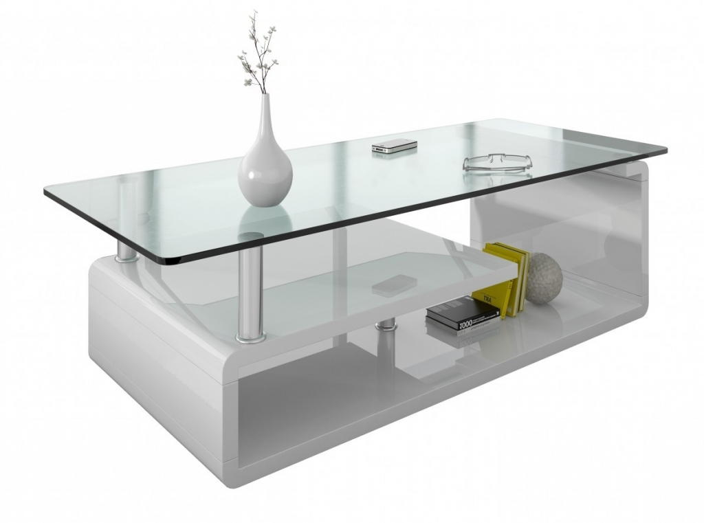 Table basse en verre de salon mobilier design for Table italienne en verre