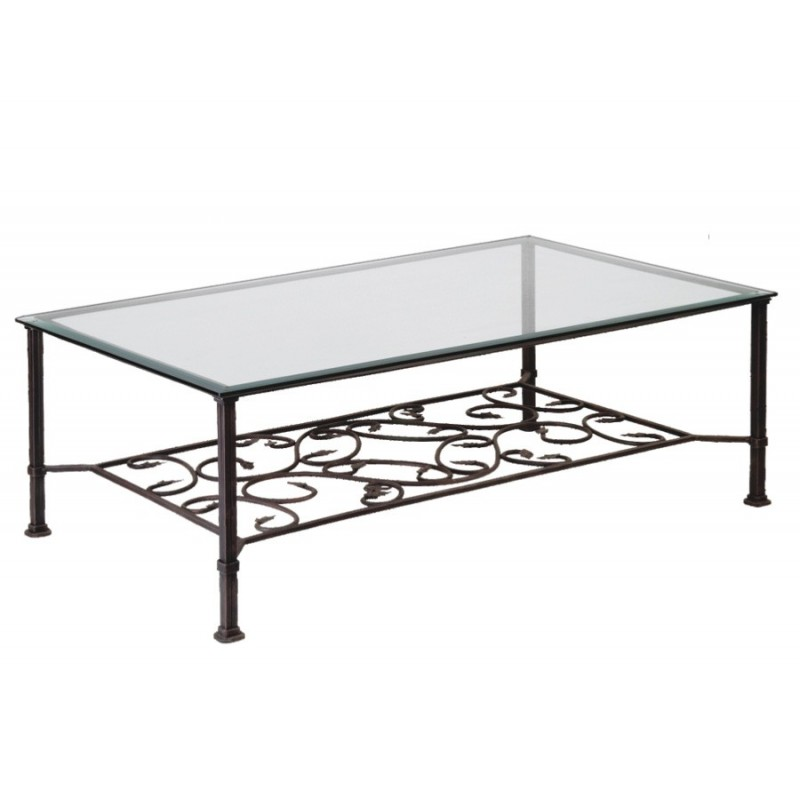 Table basse en verre et fer mobilier design d coration d 39 int rieur - Table basse en verre et fer forge ...
