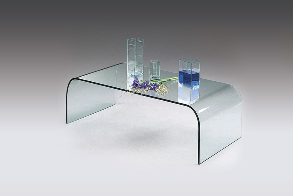 Table basse en verre contemporaine
