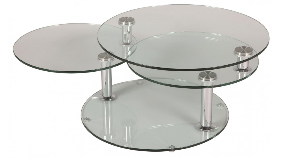 table basse en verre ronde mobilier design d coration d