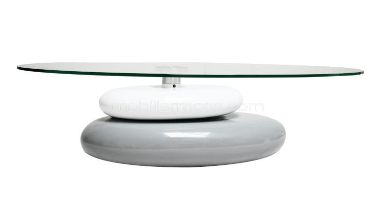 Table basse en verre galet
