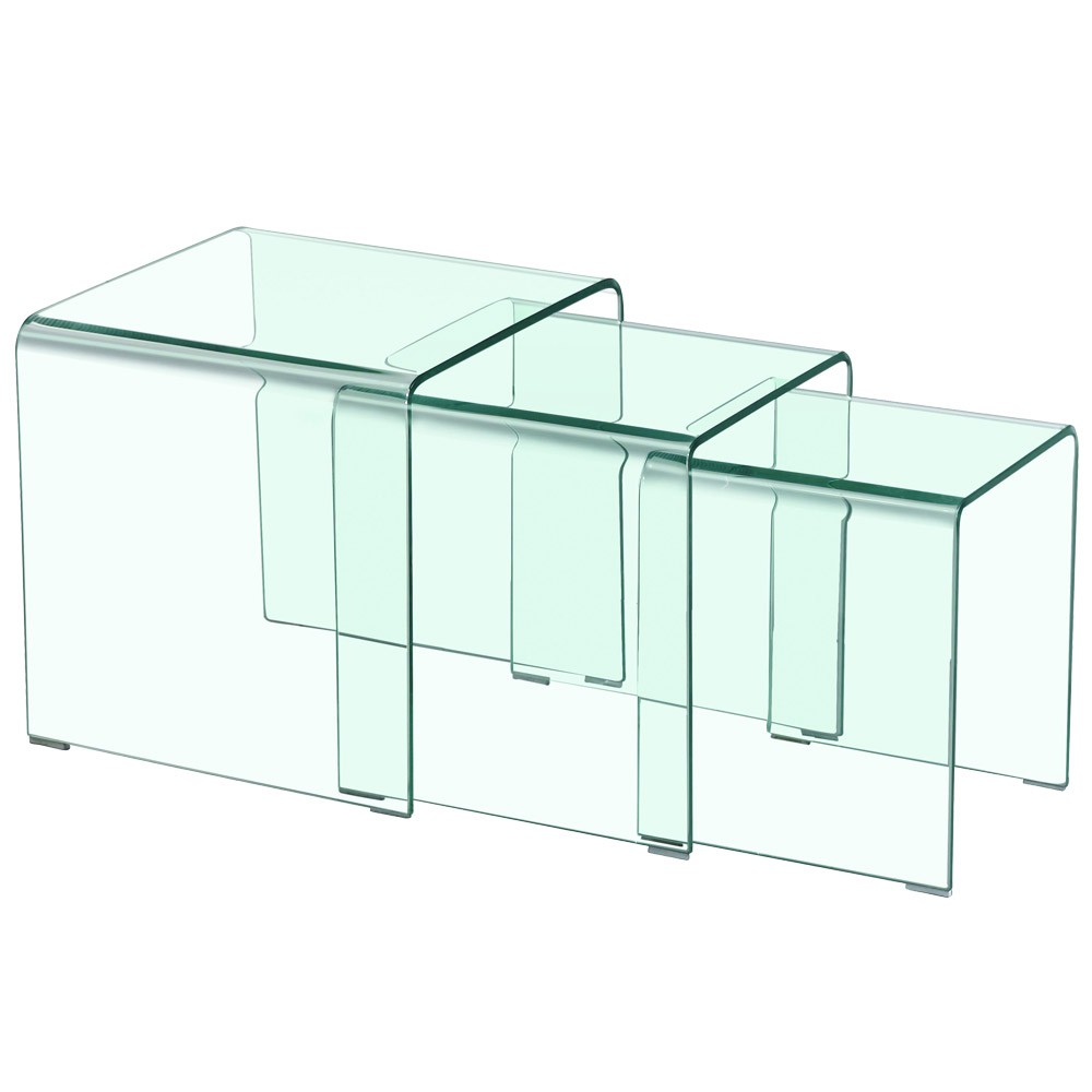 Elegant table gigogne en verre id es de conception de - Table basse en plastique ...