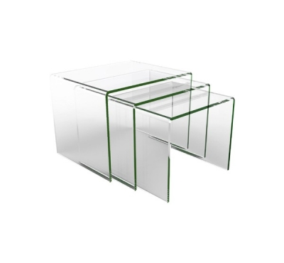 Table basse table gigogne en verre
