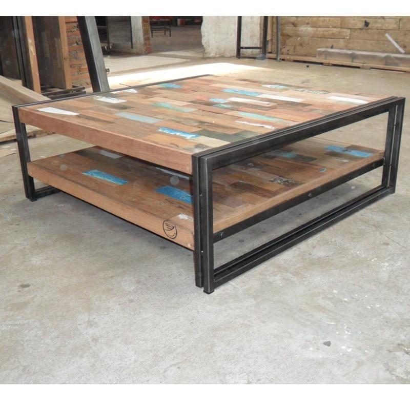 table basse industrielle bois et fer mobilier design d coration d 39 int rieur. Black Bedroom Furniture Sets. Home Design Ideas