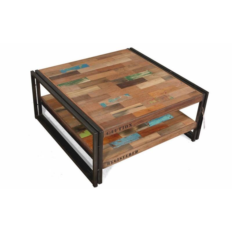 table basse industrielle en fer mobilier design d coration d 39 int rieur. Black Bedroom Furniture Sets. Home Design Ideas