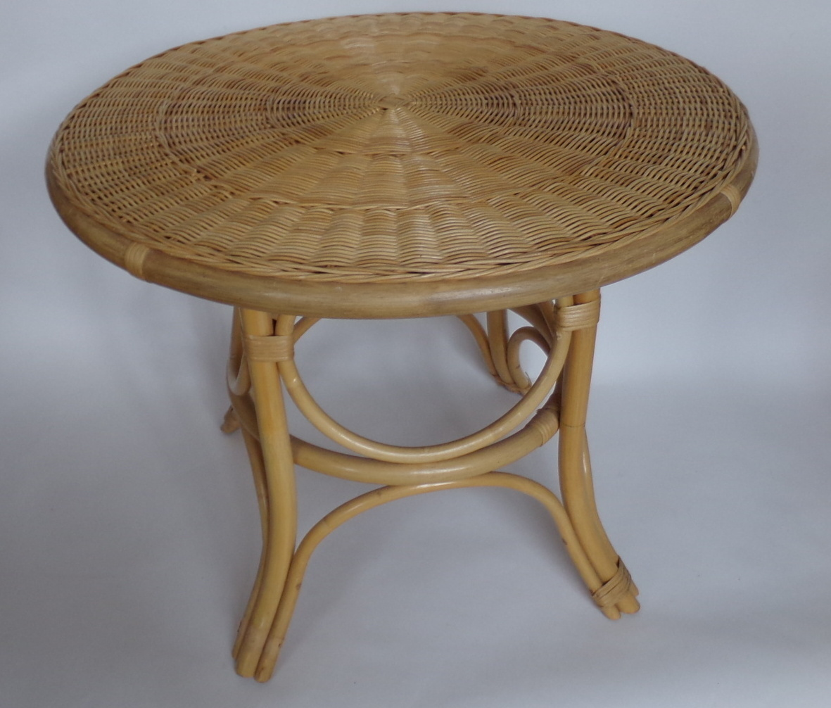 Table basse ronde en osier