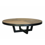 Table basse ronde palette