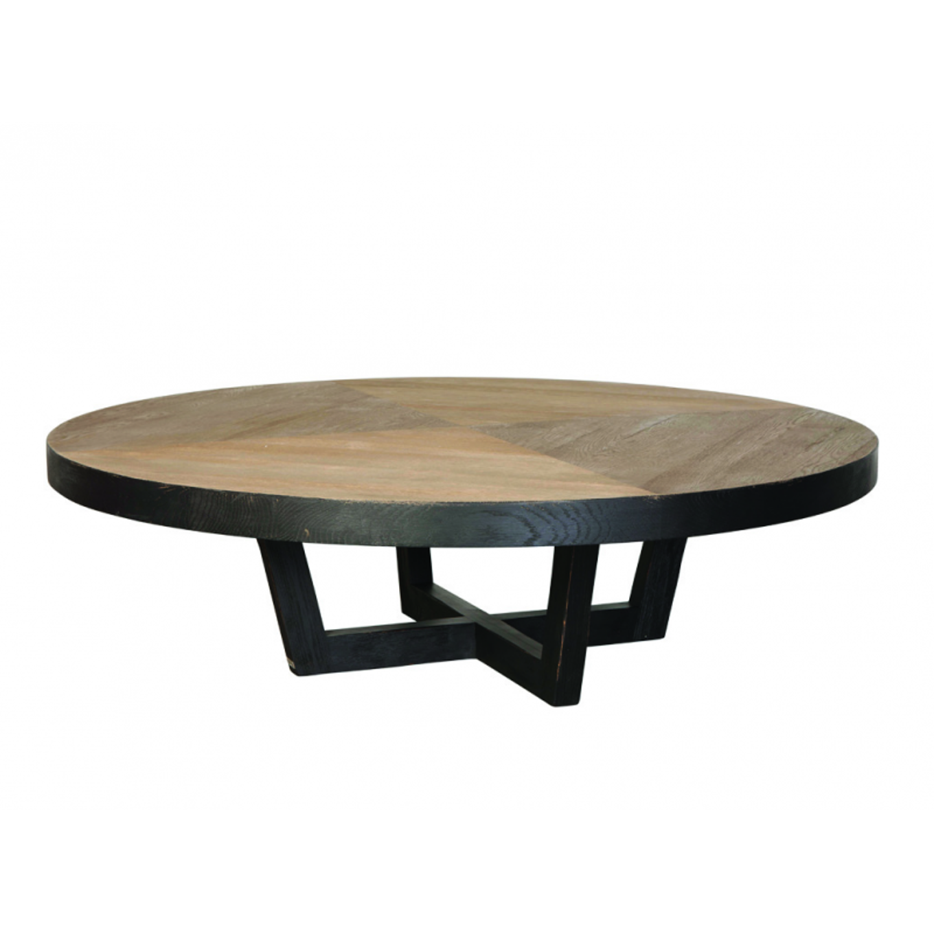 table basse ronde osier avec pouf mobilier design. Black Bedroom Furniture Sets. Home Design Ideas