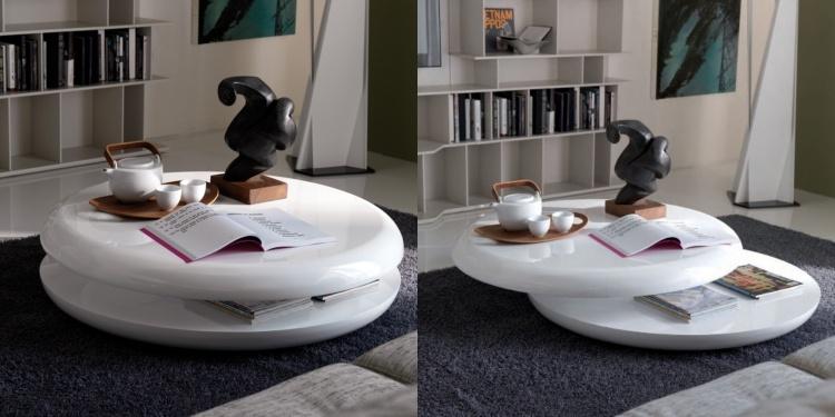 table basse ronde moderne - mobilier design, décoration d'intérieur